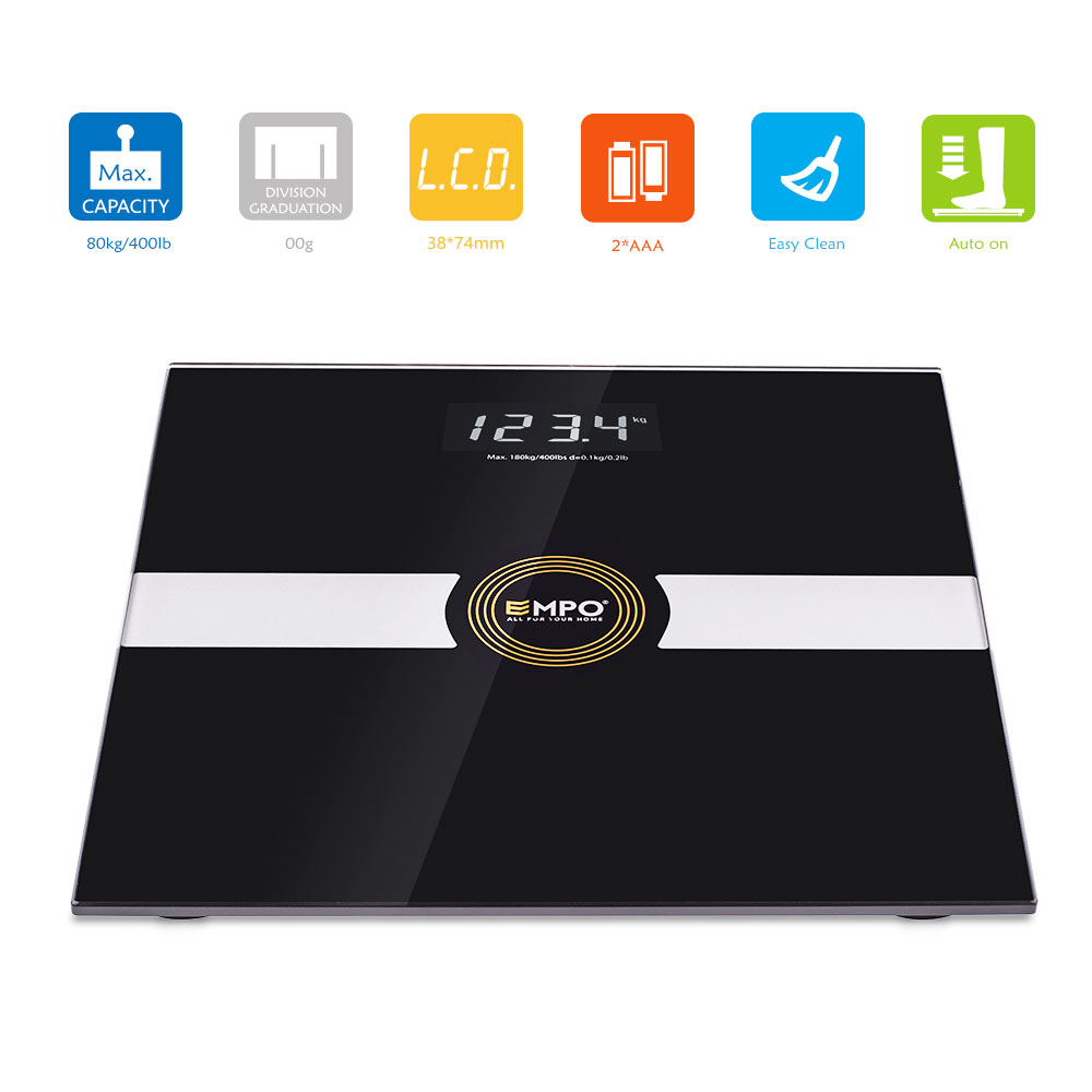 Premium Bathroom Scale High Accuracy Digital Body Weight Scale - Large display digital bathroom scales for bathroom decor ideas