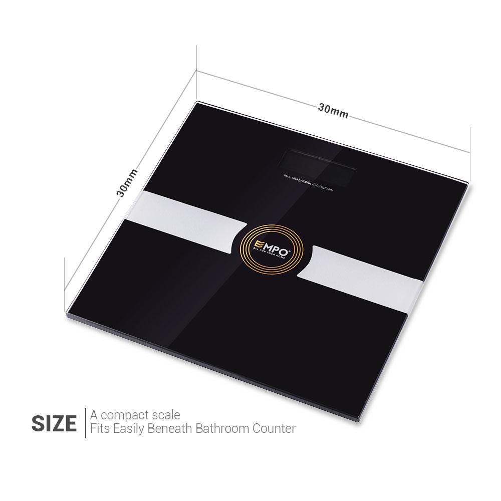 Black Bathroom Scales Premium Bathroom Scale High Accuracy Digital Body Weight Scale